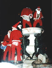 Santa on fountain